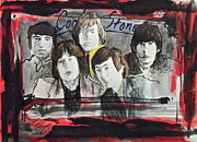 Band Painting Originals - Tha Rollin Stones by Wade Hampton