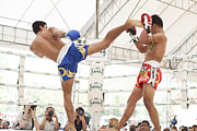 Kick Boxer Photos - Thai boxing match by Anek Suwannaphoom