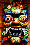 Justin Woodhouse Metal Prints - Thai Buddhist Mask Metal Print by Justin Woodhouse