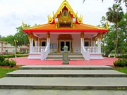 The Followers Framed Prints - Thai Buddhist Temple I Framed Print by Buzz  Coe