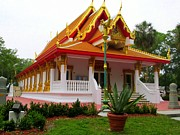 The Followers Photo Prints - Thai Buddhist Temple II Print by Buzz  Coe