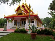 The Followers Prints - Thai Buddhist Temple III Print by Buzz  Coe