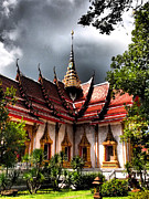 Justin Woodhouse Metal Prints - Thai Buddhist Temple Metal Print by Justin Woodhouse