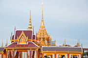Temple Sculpture Prints - Thai construction design. Print by Vachiraphan Phangphan