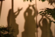 Shadows Framed Prints - Thai Dancers - Panviman Chiang Mai Spa and Resort - Chiang Mai Thailand - 01131 Framed Print by DC Photographer