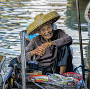 Asian Culture Prints - Thai Floating Market No 1 Print by Paul W Sharpe Aka Wizard of Wonders
