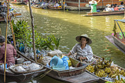 Asian Culture Posters - Thai Floating Market No 5 - More Bananas Poster by Paul W Sharpe Aka Wizard of Wonders