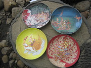 Thai Thangka Ceramics Originals - Thai Porcelain Biscuit Set by Rcom ThaiArt