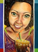 Original Art Pastels Originals - Thai Tea by Michael Alvarez