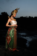 Dress Pyrography - Thai Tradition Dress  by Jarin Inrungruang