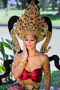 Buddhist Clothing Prints - Thai Woman in Traditional Dress Print by Fototrav Print