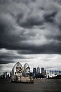 Canary Metal Prints - Thames Barrier Metal Print by Mark Rogan
