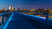 Adam Pender Prints - Thames Riverside Blues Print by Adam Pender