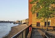 Thames Riverside Wharves Print by Marek Stepan