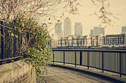 Canary Metal Prints - Thames Walk Metal Print by Heather Applegate