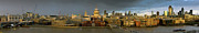 London Skyline Art - Thames with St Pauls panorama by Gary Eason