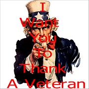 Michael Mixed Media Posters - Thank a Veteran Poster by Michael Knight