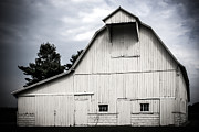 Rural Indiana Digital Art Prints - Thank God Im a Country Barn Print by Mary Jane Cannon