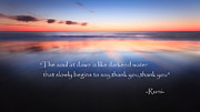 Motivational Quotes Metal Prints - Thank You Metal Print by Bill  Wakeley