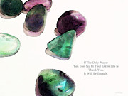 Gratitude Card Posters - Thank You - Gratitude Rocks By Sharon Cummings Poster by Sharon Cummings