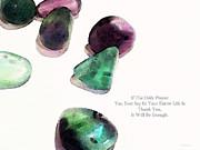 Thank You - Gratitude Rocks By Sharon Cummings Print by Sharon Cummings
