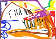 Gift Pastels Originals - Thank You by Jacques Retief