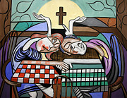 Christian Art Prints - Thank you Jesus When Two Or More Are Gathered Print by Anthony Falbo