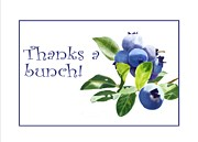 Joan A Hamilton - Thanks a Bunch Note Card