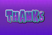 Thanks Greeting Card Print by Vizual Studio