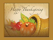 Gratitude Card Posters - Thanksgiving Card Poster by Debra     Vatalaro