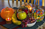 Native American Rug Prints - Thanksgiving Still LIfe Print by Gary Holmes