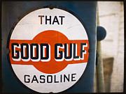 Vintage Auto Prints - That Good Gulf Gasoline Print by Edward Fielding
