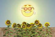 Liam Liberty - That Groovy Summer Feeling - Sunflower Art