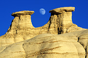 Badlands Photos - That Hoodoo Moon Bisti/De-Na-Zin Wilderness by Bob Christopher