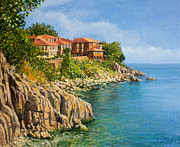 Panoramic Painting Framed Prints - That Summer Framed Print by Kiril Stanchev