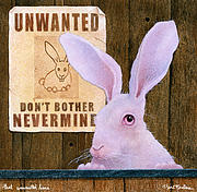 Will Framed Prints - That Unwanted Hare... Framed Print by Will Bullas
