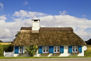 Koehrer Prints - Thatched country house Print by Heiko Koehrer-Wagner