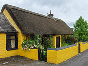 Straw Roof Art - Thatched House Ireland by Brenda Brown