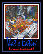 Crawfish Painting Posters - Thats Eatin Louisiana Poster by Dianne Parks