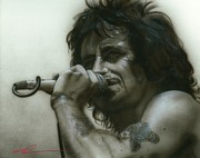 Bon Scott Framed Prints - Thats How it Goes Playing in a Band Framed Print by Christian Chapman Art