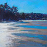 Cape Cod Pastels Prints - Thaw Glare Print by Ed Chesnovitch
