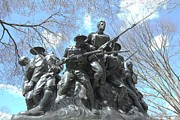 5th Regiment Prints - The 107th Infantry Memorial Statue Print by Allen Beatty
