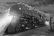 Steam Dreams Posters - The 1218 On the Move 2 Poster by Mike McGlothlen