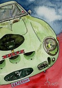 Ferrari Gto Posters - The 1962 Ferrari 250 GTO was built for Sir Stirling Moss Poster by Anna Ruzsan