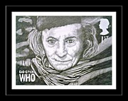 4th Drawings Prints - The 1st Doctor William Hatnell Print by Jenny Campbell Brewer