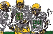 Ncaa Drawings Posters - The 2012 Ducks Poster by Jeremiah Colley