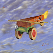 Colorful Digital Art - The 356th Toy Plane Squadron 2 by Mike McGlothlen