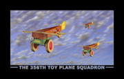 Toys Digital Art - The 356th Toy Plane Squadron by Mike McGlothlen