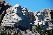 Brown Head Sculpture Prints - The 4 presidents Print by Dany Lison