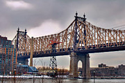 East River Art - The 59th St. Bridge by Joann Vitali